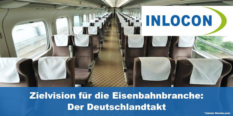 Fahrender Zug aus der Kabinensicht mit leeren Sitzen