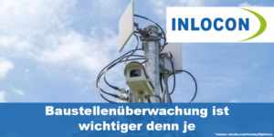 Überwachungskameras und Richtfunkantennen am Mast